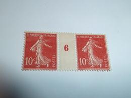 Millésime SEMEUSE CAMEE ; 10c  Rouge  YT N° 138  Millésime 6 - 1906-38 Semeuse Camée