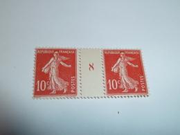 Millésime SEMEUSE CAMEE ; 10c  Rouge  YT N° 138  Millésime 8 - 1906-38 Semeuse Camée