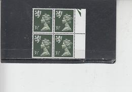 GRAN BRETAGNA  1974 - Unificato 712  (quartina) - Irlanda Nord - Regionali