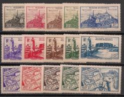 Fezzan - 1946 - N°Yv. 28 à 42 - Série Complète - Neuf Luxe ** / MNH / Postfrisch - Fezzan (1943-1951)