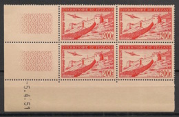 Fezzan - 1951 - Poste Aérienne PA  N°Yv. 7 - Fort De Sebha - Bloc De 4 Coin Daté - Neuf Luxe ** / MNH / Postfrisch - Fezzan (1943-1951)