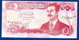 Irak- 5  Dinars 1992 -  Pick # 80  - état  UNC - Iraq