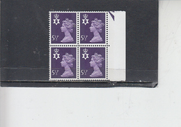GRAN BRETAGNA  1974 - Unificato 715  (quartina) - Irlanda Nord - Regionali