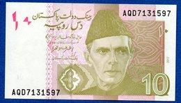 Pakistan - 10   Rupees 2017 -  Pick # 45  - état  UNC - Pakistan