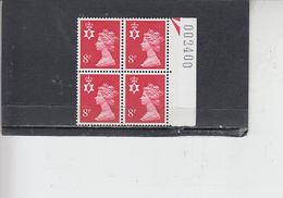 GRAN BRETAGNA  1974 - Unificato 718  (quartina) - Irlanda Del Nord - Regionali