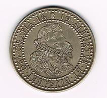 // PENNING ALBERTVS ET ELISABET DEI GRATIA 1619 - WILLEM VAN ALSENOY NUMISMAAT - Jetons De Communes