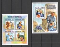 ST1268 2013 GUINE GUINEA-BISSAU FAMOUS PEOPLE ANNIVERSARY NELSON MANDELA KB+BL MNH - Other