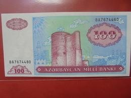 AZERBAIDJAN 100 MANAT 1993 PEU CIRCULER/NEUF - Azerbaïjan