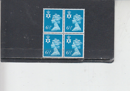 GRAN BRETAGNA  1976 - Unificato 775  (quartina) -  Irlanda Nord - Regionali