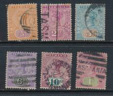 TASMANIA, 1892 To 1/-, Cat £29 - 1853-1912 Tasmania