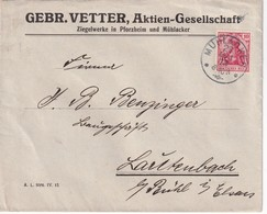 ALLEMAGNE 1913 LETTRE DE MÜHLACKER - Covers & Documents
