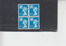GRAN BRETAGNA  1976 - Unificato 774  (quartina) - Galles - Regionali