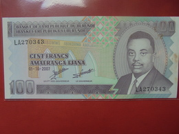 BURUNDI 100 FRANCS 2007 PEU CIRCULER/NEUF - Burundi