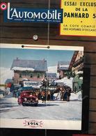 Revue Ancienne L'Automobile 1954 N° 93 - Auto/Motorrad