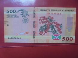 BURUNDI 500 FRANCS 2015 PEU CIRCULER/NEUF - Burundi