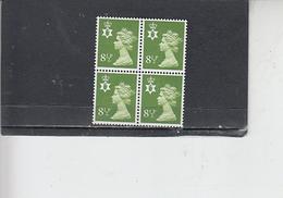 GRAN BRETAGNA  1976 - Unificato 778  (quartina) - Irlanda Del Nord - Regionali
