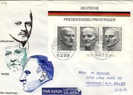 D+ Deutschland 1975 Mi Bl. 11 - 871-73 Friedensnobelpreise (UNIKAT / ÙNICO / PIÉCE UNIQUE / JEDINEČNÝ) - BRD