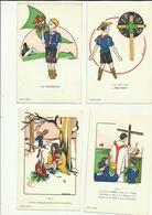 ** .  BOYS-SCOUTS        **--11 Cartes  Postales  ! - - Scoutisme