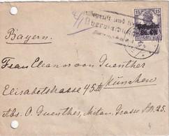 ALLEMAGNE  POSTGEBIET OBERBEFEHLSHABER OST LETTRE - Ocupación 1914 – 18