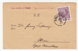Distr.-Commiss. In Friedau Postcard Travelled 1909? Friedau (Ormož?) To Wien B190610 - Slovenia