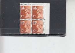 GRAN BRETAGNA  1976 - Unificato  809 (quartina) - Galles - Regionali