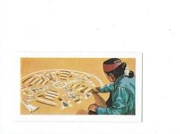NAVAJO Indien Amérique Sand-Paintings Peintures Sur Sable 70 X 35 Mm TB 2 Scans - Trade Cards