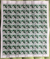 GIAPPONE - 1971 - SERIE ORDINARIA 20YEN - FOGLIO USATO DI 100 FRANCOBOLLI (YVERT1034 - MICHEL 1136A) - 1926-89 Imperatore Hirohito (Periodo Showa)