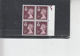 GRAN BRETAGNA  1978 - Unificato  847 (quartina) - Irlanda Del Nord - Regionali