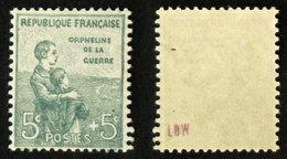N° 149 ORPHELIN 5c+5c Neuf N** TB Cote 75€ - France
