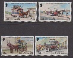 Isle Of Man 1976 Horse Tram Centenary 4v ** Mnh (42918F) - Isola Di Man