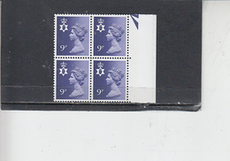 GRAN BRETAGNA  1978 - Unificato  850 (quartina) - Irlanda Del Nord - Regionali