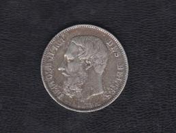 1873.- BELGICA.  5 FRANCOS PLATA LEOLDO II - 1865-1909: Leopoldo II