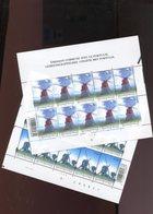 Belgie 2002 Nr 3091/92 Portugal JOINT ISSUE Windmills OLV Lombeek Roosdaal Acores Volledig Vel Plaatnummer 22 - Hojas