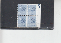 GRAN BRETAGNA  1978 - Unificato  853 (quartina) - Irlanda Del Nord - Regionali