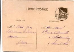 Carte Entier Algérie  ACEP CP 15A - Oran 1941 - !!! Découpée à Droite : Qq Mm En Moins Hélas - Cote 30 € Entière - Algérie (1924-1962)