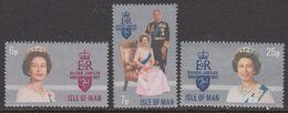 Isle Of Man 1977 SilverJubilee 3v ** Mnh (42918M) - Man (Eiland)