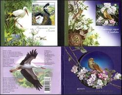 UKRAINE 2019 Mi MH18(1797-1798) Europe CEPT. National Birds / Europa CEPT. Nationalvögel **/MNH - Sperlingsvögel & Singvögel