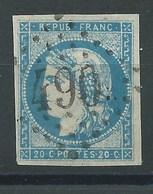FRANCE CLASSIQUE - N°44A  Oblitéré. Signé Calves. Cote 725€. - 1870 Bordeaux Printing
