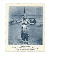 INDOCHINE Chromo Laos Luang Prabang Danseuse Royale APSARA Bien Rien Au Dos 75 X 60 Mm - Other