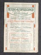 Pubblicità Ottica Occhiali - Metodo Autoptoscopico Vanzina - Milano - 1924 - Advertising