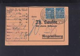 Dt. Reich PK 1923 Lössnitz MeF Nach Regensburg - Deutschland