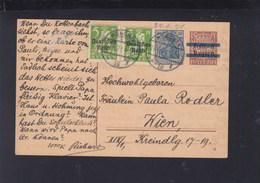 Dt. Reich GSK Mit Zudruck Und ZuF 1921 München Nach Wien - Briefe U. Dokumente