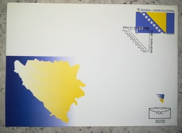 BOSNIA HERZEGOVINA BOSNIE BOSNIEN 2002 BANDERA FLAG MICHEL 282 SOBRE DE PRIMER DIA FIRST DAY COVER SPD FDC - Bosnia Herzegovina