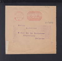 Dt. Reich Streifband 1923 Pößneck Nach Belgien Freistempel - Briefe U. Dokumente