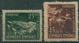 España 1938 - Edifil 787/88 MNH - Homenaje A La 43 División - 1931-Hoy: 2ª República - ... Juan Carlos I