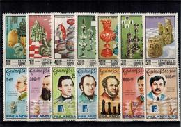 MSP-31052019-0021 MINT ¤ GUINEE BISSAU 1988-1983 KOMPL. SET ¤ CHESS MASTERS - SCHAKEN - Schaken