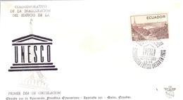 EQUADOR  EDIFICIO 1958 FDC COVER UNESCO  (MAGG190139) - Ecuador