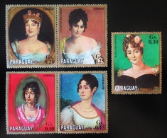 1971 PARAGUAY TABLEAUX PEINTURES PORTRAITS  The 150th Anniversary Of The Death Of Napoleon I, 1769-1821 - Paraguay