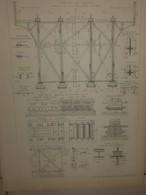 Plan Du Viaduc De Marly. Chemin De Fer De L'Etang La Ville à Saint Cloud.1884. - Travaux Publics