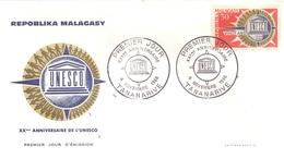 MALAGASY  TANANARIVE 1966 FDC COVER UNESCO  (MAGG190140) - UNESCO